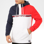 /achat-sweats-capuche/teddy-smith-sweat-capuche-col-zippe-marco-bleu-marine-rouge-gris-chine-207666.html