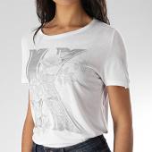 /achat-t-shirts/kaporal-tee-shirt-slim-femme-rako-blanc-argente-floral-207831.html
