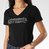 /achat-t-shirts/kaporal-tee-shirt-slim-femme-col-v-rap-noir-207833.html