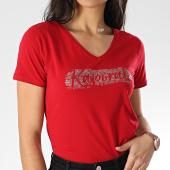 /achat-t-shirts/kaporal-tee-shirt-slim-femme-col-v-rap-rouge-207835.html