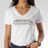 /achat-t-shirts/kaporal-tee-shirt-slim-femme-col-v-rap-blanc-207836.html