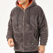 /achat-sweats-zippes-capuche/classic-series-sweat-zippe-capuche-fourrure-19495-gris-anthracite-207939.html