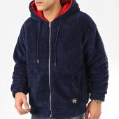 /achat-sweats-zippes-capuche/classic-series-sweat-zippe-capuche-fourrure-19495-bleu-marine-207952.html