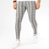 /achat-pantalons-carreaux/grj-denim-pantalon-a-carreaux-slim-14235-gris-207977.html