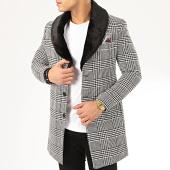 /achat-manteaux/mackten-manteau-a-carreaux-col-fourrure-1035-noir-blanc-207874.html