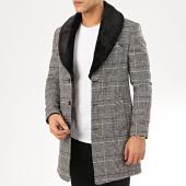 /achat-manteaux/mackten-manteau-a-carreaux-col-fourrure-1037-noir-blanc-207878.html