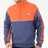 /achat-sweats-col-zippe/adidas-sweat-col-zippe-a-bandes-mod-fm1401-bleu-marine-orange-207996.html
