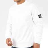 /achat-sweats-col-rond-crewneck/calvin-klein-sweat-crewneck-monogram-sleeve-badge-4035-blanc-208017.html