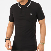 /achat-polos-manches-courtes/calvin-klein-polo-manches-courtes-essential-tipping-4565-noir-208023.html