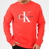 /achat-sweats-col-rond-crewneck/calvin-klein-sweat-crewneck-monogram-regular-4692-rouge-208040.html