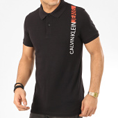 /achat-polos-manches-courtes/calvin-klein-polo-manches-courtes-stripe-institutional-4829-noir-208052.html