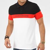 /achat-polos-manches-courtes/calvin-klein-polo-manches-courtes-tricolore-color-block-5287-blanc-noir-rouge-208068.html