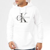 /achat-sweats-capuche/calvin-klein-sweat-capuche-monogram-regular-5417-blanc-208071.html