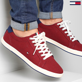 /achat-baskets-basses/tommy-hilfiger-baskets-iconic-long-lace-1536-red-208167.html