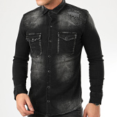 /achat-chemises-manches-longues/uniplay-chemise-en-jean-235-gris-anthracite-208127.html