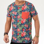 /achat-t-shirts-poche/classic-series-tee-shirt-poche-h12021z21211a-bleu-marine-floral-208321.html