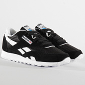 /achat-baskets-basses/reebok-baskets-femme-classic-leather-nylon-fv4506-black-white-208417.html