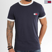 /achat-t-shirts/tommy-hilfiger-jeans-tee-shirt-branded-ringer-7838-bleu-marine-208268.html