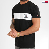 /achat-t-shirts/tommy-hilfiger-jeans-tee-shirt-chest-stripe-logo-7858-noir-208272.html