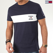 /achat-t-shirts/tommy-jeans-tee-shirt-chest-stripe-logo-7858-bleu-marine-208281.html