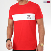 /achat-t-shirts/tommy-jeans-tee-shirt-chest-stripe-logo-7858-rouge-208282.html