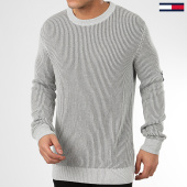 /achat-pulls/tommy-jeans-pull-textured-badge-7948-gris-chine-208285.html