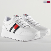 /achat-baskets-basses/tommy-jeans-baskets-femme-high-cleated-flag-sneaker-0784-white-208403.html