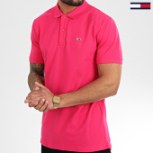 /achat-polos-manches-courtes/tommy-hilfiger-jeans-polo-manches-courtes-classics-solid-stretch-7196-fuchsia-208539.html