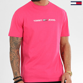 /achat-t-shirts/tommy-hilfiger-jeans-tee-shirt-straight-small-logo-7621-fuchsia-208544.html