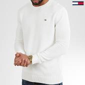 /achat-pulls/tommy-hilfiger-jeans-pull-tommy-classics-8055-ecru-208545.html