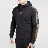 /achat-sweats-capuche/siksilk-sweat-capuche-a-bandes-nylon-panel-15431-noir-dore-208673.html