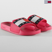 /achat-claquettes-sandales/tommy-jeans-claquettes-femme-flag-poolside-0474-rose-208574.html