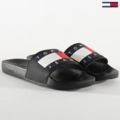 /achat-claquettes-sandales/tommy-hilfiger-jeans-claquettes-flag-pool-slide-0284-noir-208583.html