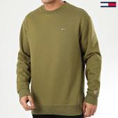 /achat-sweats-col-rond-crewneck/tommy-jeans-sweat-crewneck-tommy-classics-4469-vert-kaki-208602.html
