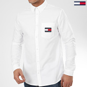 /achat-chemises-manches-longues/tommy-jeans-chemise-manches-longues-oxford-badge-7895-blanc-208625.html