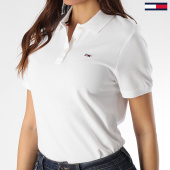 /achat-polos-manches-courtes/tommy-jeans-polo-manches-courtes-femme-tommy-classics-7641-blanc-208633.html