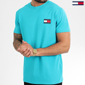 /achat-t-shirts/tommy-hilfiger-jeans-tee-shirt-tommy-badge-6595-turquoise-208661.html
