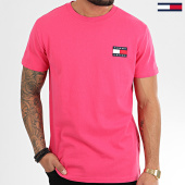 /achat-t-shirts/tommy-hilfiger-jeans-tee-shirt-tommy-badge-6595-fuchsia-208664.html