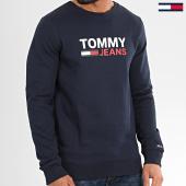 /achat-sweats-col-rond-crewneck/tommy-hilfiger-jeans-sweat-crewneck-corp-logo-7930-bleu-marine-208674.html