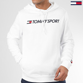 /achat-sweats-capuche/tommy-sport-sweat-capuche-fleece-logo-0363-blanc-208794.html