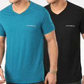 /achat-t-shirts/emporio-armani-lot-de-2-tee-shirts-col-v-111849-0p717-noir-turquoise-208848.html