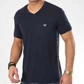 /achat-t-shirts/emporio-armani-tee-shirt-slim-col-v-a-bandes-111889-0p717-bleu-marine-208873.html