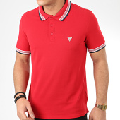 /achat-polos-manches-courtes/guess-polo-manches-courtes-m02p40-k7o60-rouge-208841.html