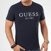 /achat-t-shirts/guess-tee-shirt-m0gi93-j1300-bleu-marine-argente-208844.html