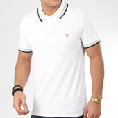 /achat-polos-manches-courtes/guess-polo-manches-courtes-m02p40-k7o60-blanc-208958.html