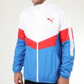 /achat-coupe-vent/puma-veste-de-sport-zippee-a-bandes-windbreaker-581231-blanc-bleu-clair-208991.html
