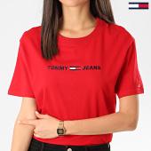 https://www.laboutiqueofficielle.com/achat-t-shirts/tommy-hilfiger-tee-shirt-femme-modern-linear-logo-8062-rouge-209049.html