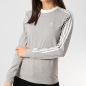 /achat-sweats-col-rond-crewneck/adidas-sweat-crewneck-femme-a-bandes-stripes-fm3303-gris-chine-209085.html