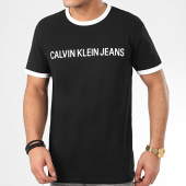 /achat-t-shirts/calvin-klein-tee-shirt-institutional-6086-noir-209072.html