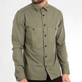 /achat-chemises-manches-longues/selected-chemise-manches-longues-regavi-contrast-vert-kaki-209129.html